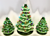 Vintage Lighted Tree Holiday Decor