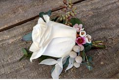 Vintage Rose Boutonniere Boutonnieres