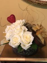 Vintage Rose Box Roses