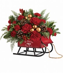 Vintage Sleigh Bouquet in Winston Salem, NC | RAE'S NORTH POINT FLORIST INC.