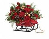 Vintage Sleigh by Teleflora Holiday-Christmas