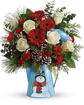 Vintage Snowman Bouquet holiday