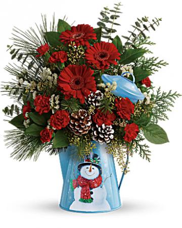 Vintage Snowman Christmas Arrangement