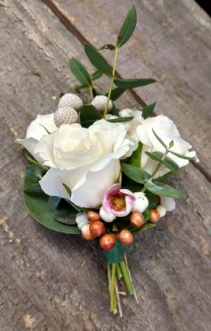 Vintage Spray Roses Boutonniere Boutonnieres