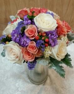 Vintage spring hand-tied Bridal bouquet