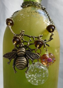 Vintage style necklace with bee! Visit our Etsy Shop for more great pieces like this! in Spring Hill, FL | THE IVY COTTAGE