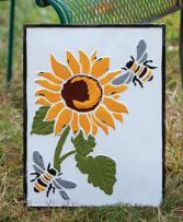 Vintage Sunflower Plaque