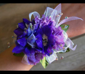 Violet and Blue Luxe Corsage wrist corsage
