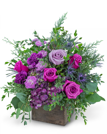 Violet Enchantment Flower Arrangement