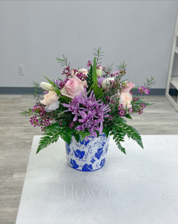 Violet Vase Arrangment