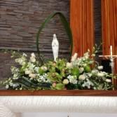 Virgin Mary Costume Flower arrangement