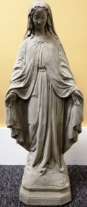 "Virgin Mary Statue 26"" Tall Concrete Figure"