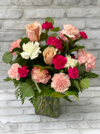 Virginia Rose Vase Arrangement