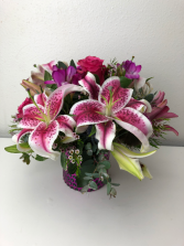 Vision in Pink Vase Arrangement