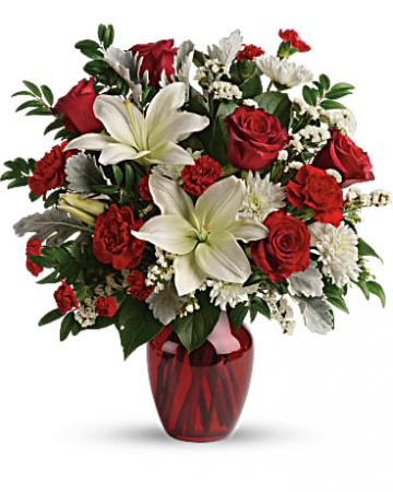 Visions of Love Bouquet Vased Arrangement
