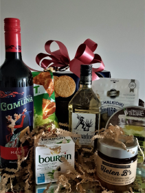 0LE!!! TEQUILA, WINE AND SPICY TREATS BASKET