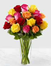 Vivacious Colors Rose Arrangement