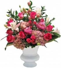 Vivacious Pink  Funeral Flowers