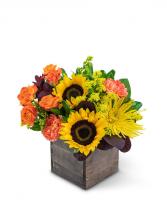 Vivid Autumn Flower Arrangement