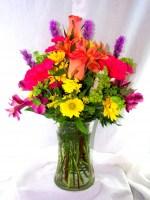 Vivid Love Vase Arrangement