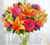 Vivid Medley Mixed Floral Arrangement