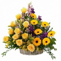 Vivid Memories  Basket Arrangement