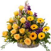 Vivid Memories Basket Tribute Memorial Arrangement