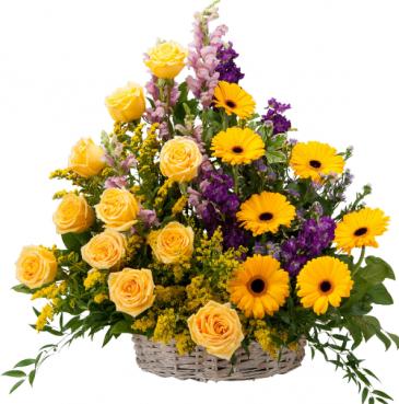 Vivid Memories Basket Tribute Memorial Arrangement