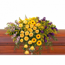 Vivid Memories Casket Spray