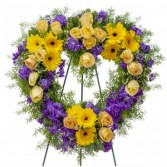 Vivid Memories Heart Wreath