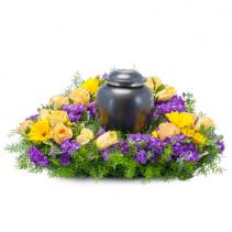 Vivid Memories Surround Memorial Arrangement