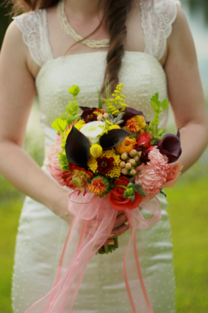 Vivid Passion Bridal Bouquet