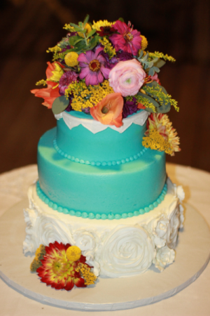 Vivid Passion Cake Flowers