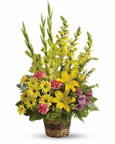 Vivid Recollections Basket Flower