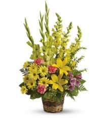 Vivid Reflections Fresh Floral Arrangement