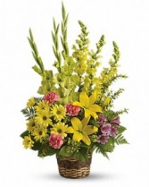 Vivid Reflections Funeral Basket