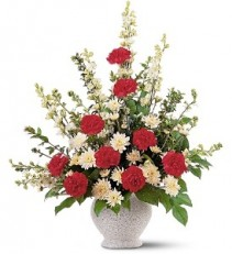 Vivid Sentiments Funeral Vase