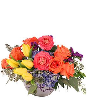 Vivid Splendor Floral Arrangement in Ozone Park, NY | Heavenly Florist