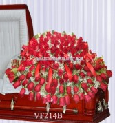 Vogue's All Red Roses Casket Spray Casket Spray Flowers