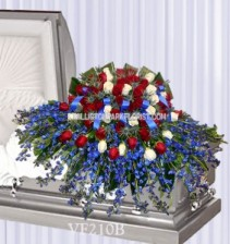 Vogue's Casket Spray Of Honor Casket Spray Flowers