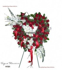Vogue's Heart of Passion Funeral Hearts