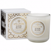 SUEDE BLANC Boxed Candle By Voluspa