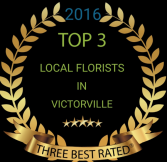 Voted top three florist  2016