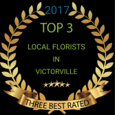 Voted top three florist  2017