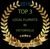 Voted top three florist  2018