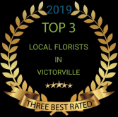 Voted top three florist  2019
