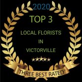 Voted top three florist  2020