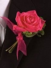 Blooming Rose Wedding Boutonniere