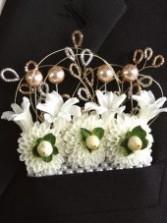 Embellished Pocket Square Wedding Boutonniere