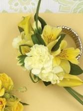 Yellow Florals Wrist Wedding Corsage